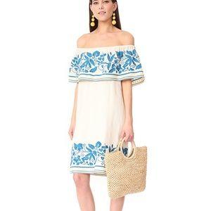 Scotch & Soda embroider off the shoulder dress